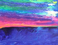Maui Sunset, 2014, acrylic on canvas, 24 x 30 in.